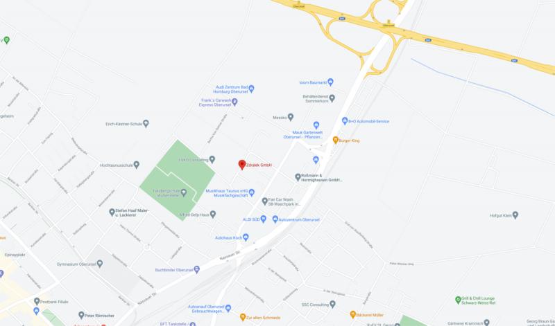 Karte Zdralek GmbH Oberursel 800x471
