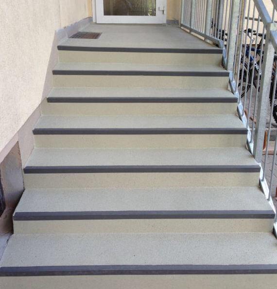 Treppe Trilfex Bodenbeschichtung